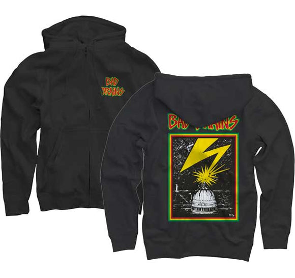 Bad Brains Logo Zip Up Hoodie