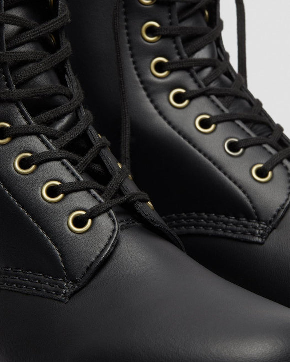 1460 Black Vegan Felix Dr. Marten 8 Eye Boots