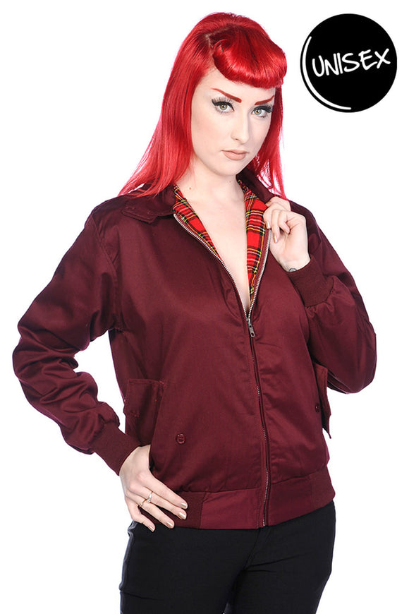 Burgundy Harrington Jacket UNISEX