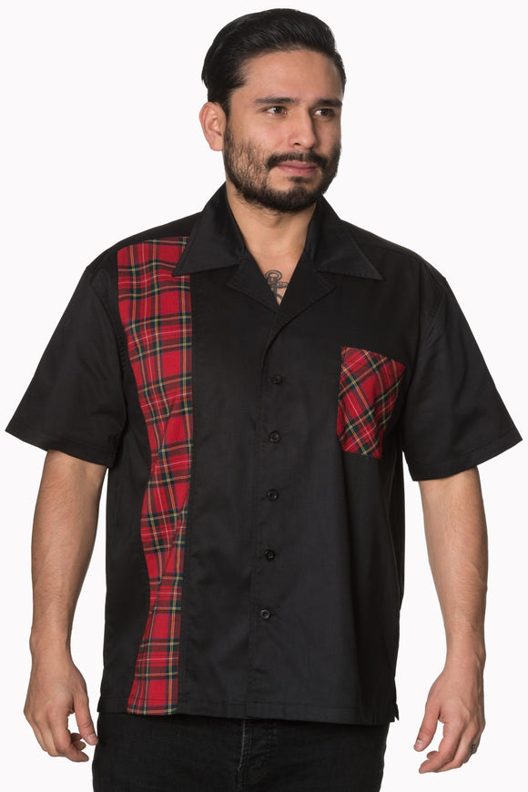 Plaid Panel Button Up shirt
