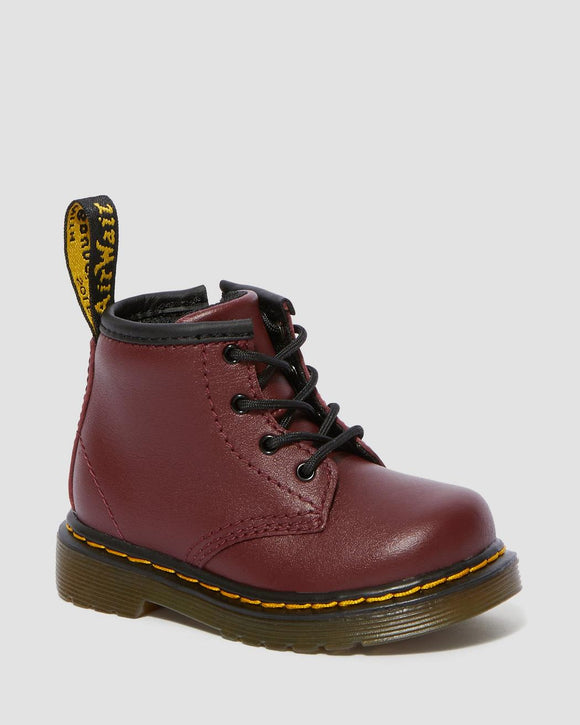 1460 I Softy T Cherry Red Leather Baby Boots
