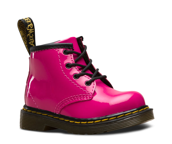 1460 I Hot Pink Patent Leather Baby Boots