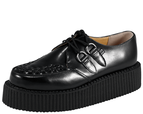 Black Leather Mondo Creeper - DeadRockers