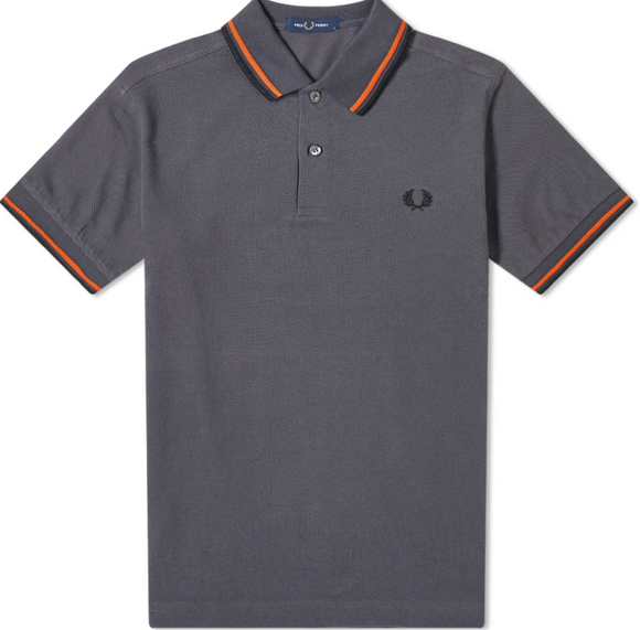 Fred Perry Twin Tipped Polo Graphite
