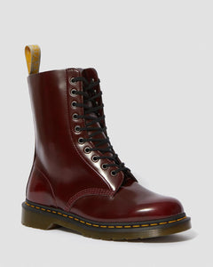 1490 Vegan Cherry Red Oxford Boots