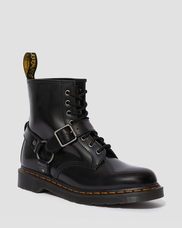 1460 Black Harness Dr. Marten 8 Eye Boots
