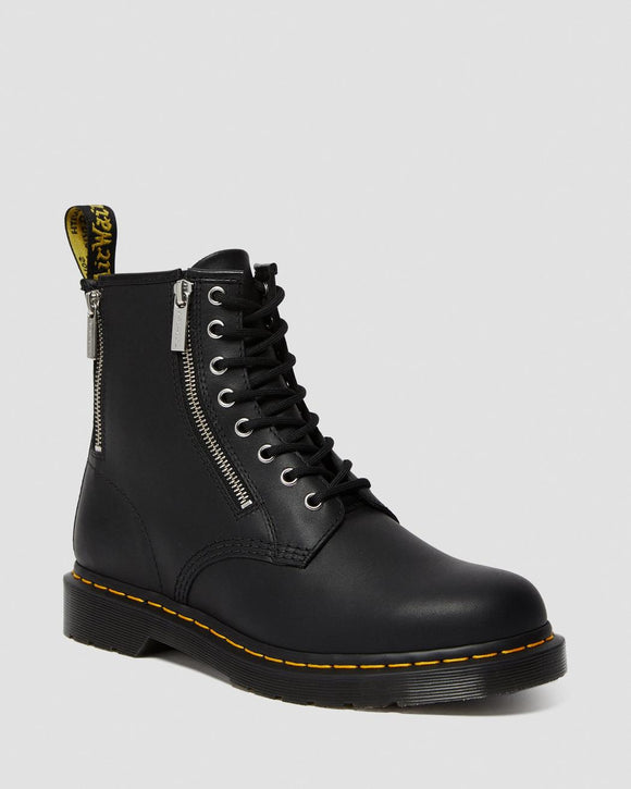 1460 Zipper Black Nappa Leather Boot
