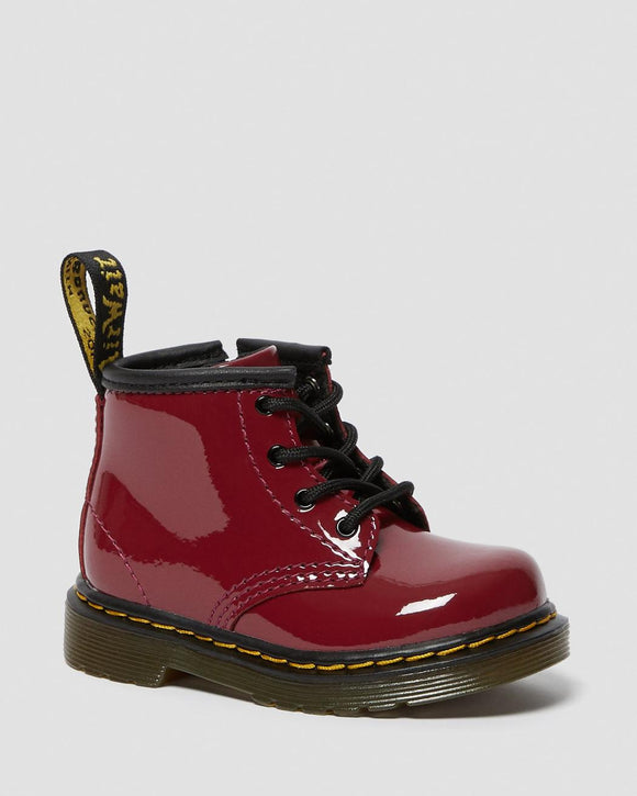 1460 I Dark Scooter Red Patent Baby Boots