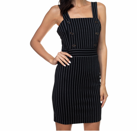 Pinstriped Doll Dress