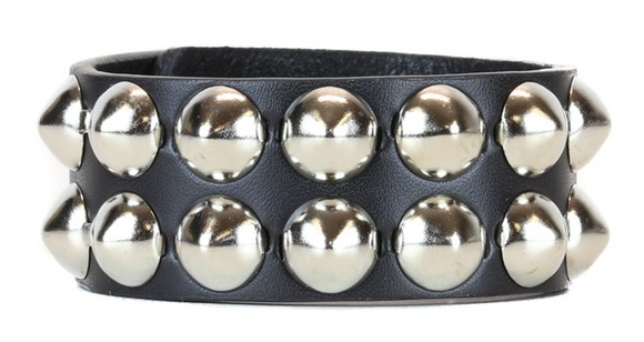 Two Row Cone Stud Wristband