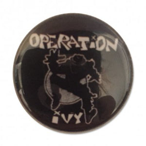 Operation Ivy Ska Man Button Pin