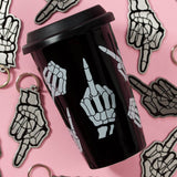 No Bones Middle Finger Tumbler