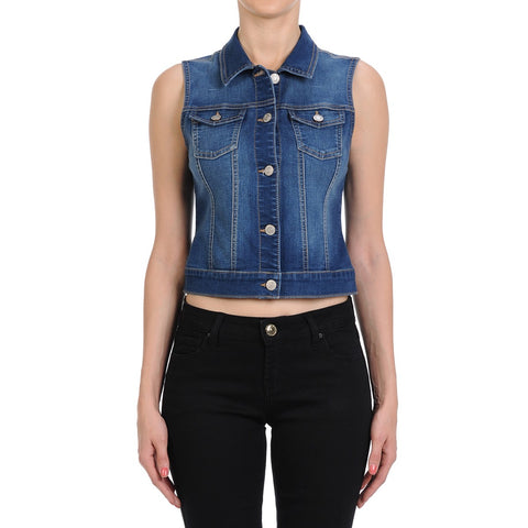 Medium Wash Denim Vest