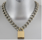 Gold Lock & Key Necklace