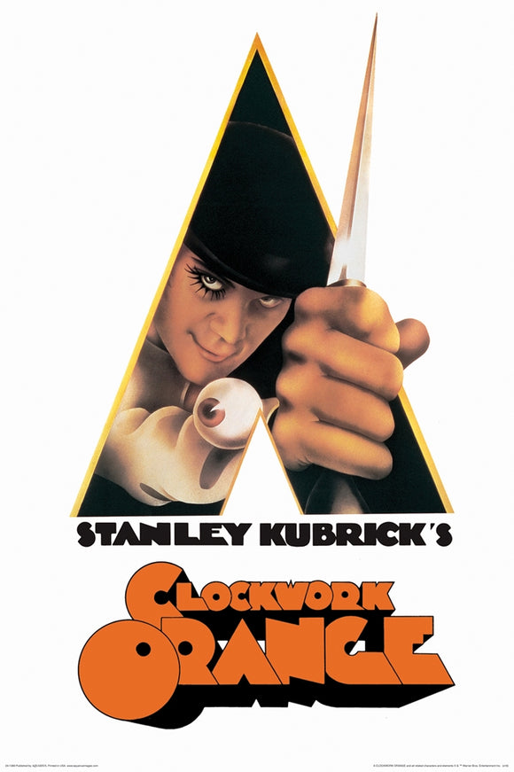 A Clockwork Orange Knife Movie Poster