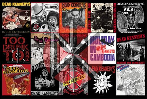 Dead Kennedys Album Montage Poster