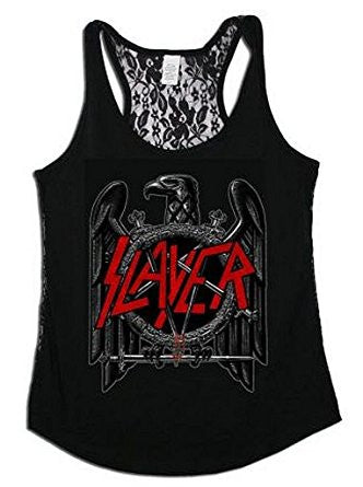 Slayer Eagle Lace Back Tank - DeadRockers