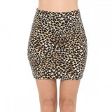 Leopard Stretch Mini Skirt