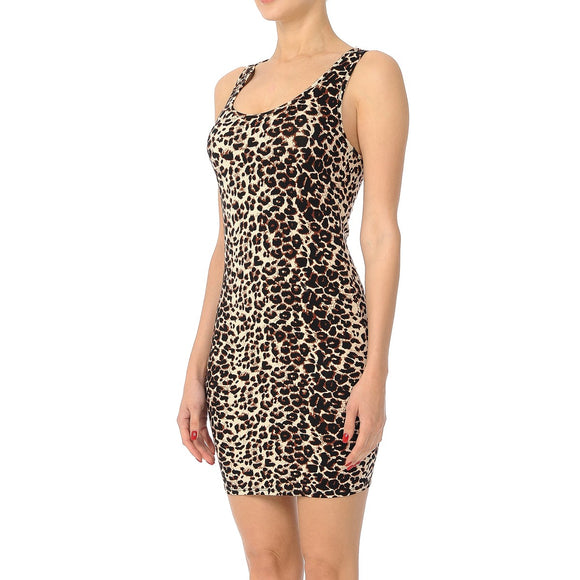 Leopard Racer Back Bodycon Dress