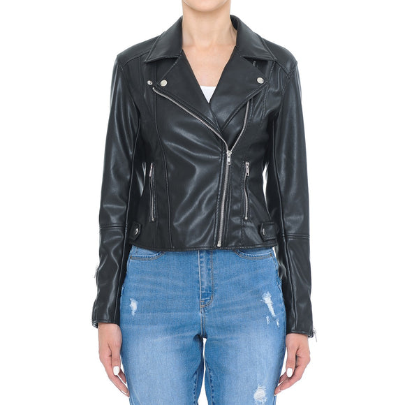 Black Fitted Biker Jacket