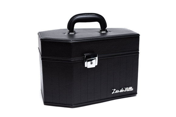 Black Matte Deville Coffin Vanity Case