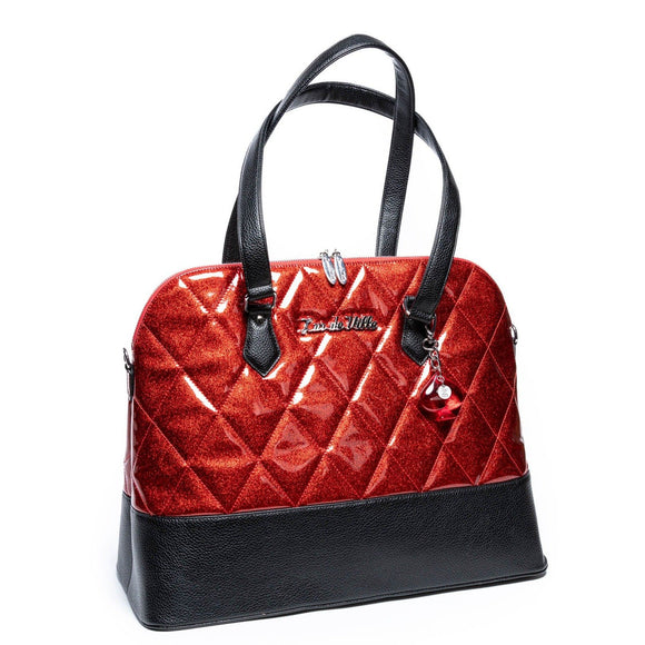 Trixie Tote Black & Red Rum Sparkle