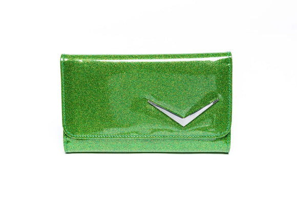 Getaway Wallet Monster Green Sparkle