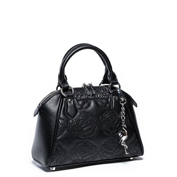 Black Matte Mini Shotzy Rose Tote
