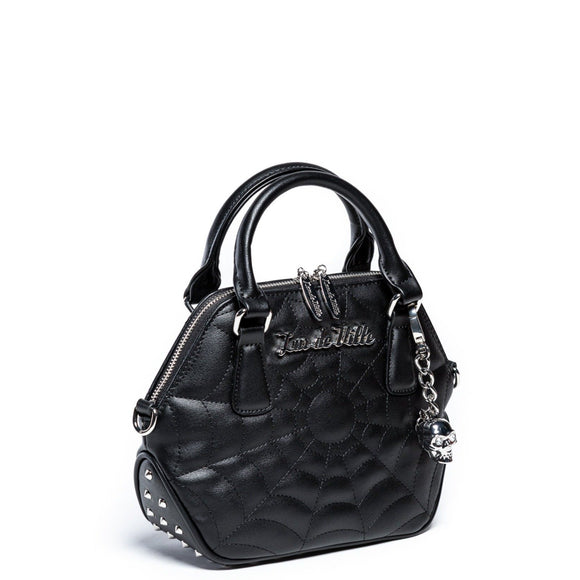 Mini Glampira Tote Studded Black Matte