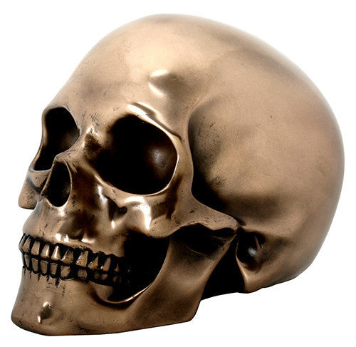 Bronzed Skull Head - DeadRockers