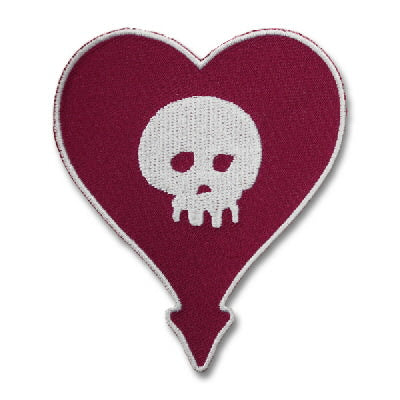 Alkaline Trio Embroidered Heartskull Patch