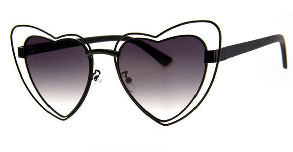 Black Wire Heart Sunglasses
