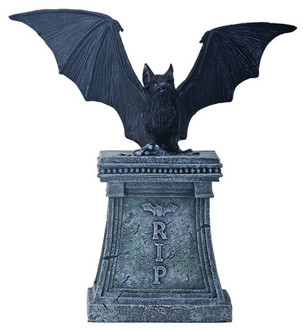 Bat on Tombstone Statue