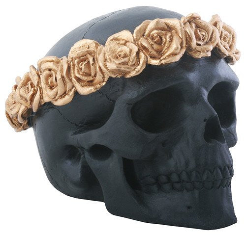 Black Flower Skull - DeadRockers