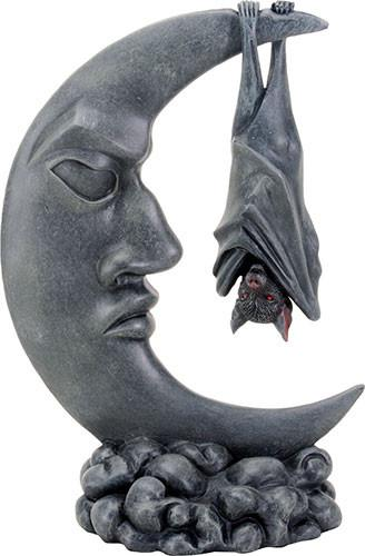 Bat on the Moon Statue