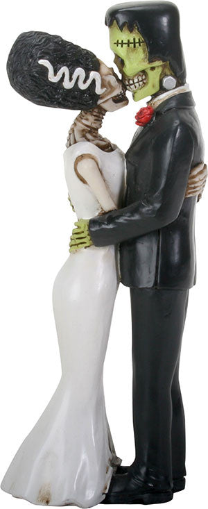 Frankenskull & Bride Kissing Statue - DeadRockers