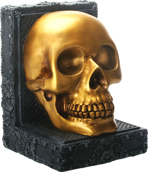 Golden Skull Bookend