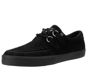 Black Suede D-Ring VLK Creeper Sneaker