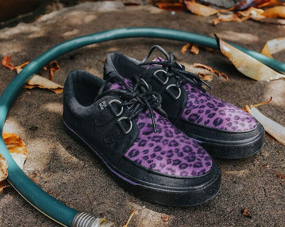 Black & Purple Leopard D-Ring VLK Sneaker