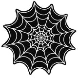 Spider Web Black Beach Towel