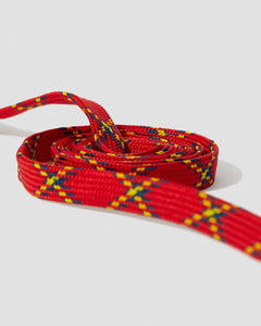 "Red Plaid 55"" Flat Laces (8-10 Eye)"