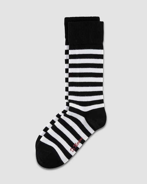 Black & White Striped Doc Marten Socks