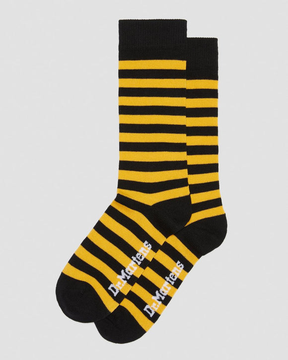 Black & Yellow Striped Doc Marten Socks