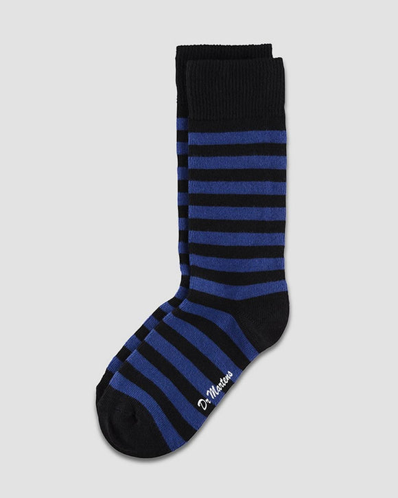 Black & Blue Striped Doc Marten Socks