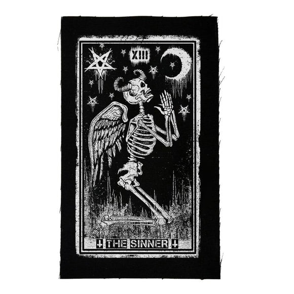 Sinner Tarot Card Cloth Patch