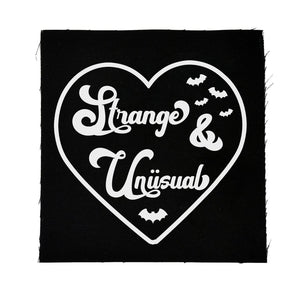 Strange & Unusual Heart Cloth Patch