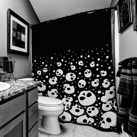 Bubble Skull Head Shower Curtain