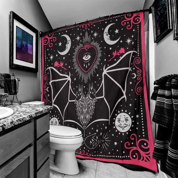 All Seeing Eye Bat Mystical Shower Curtain