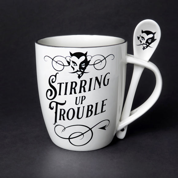Stiring Up Trouble Cup and Spoon