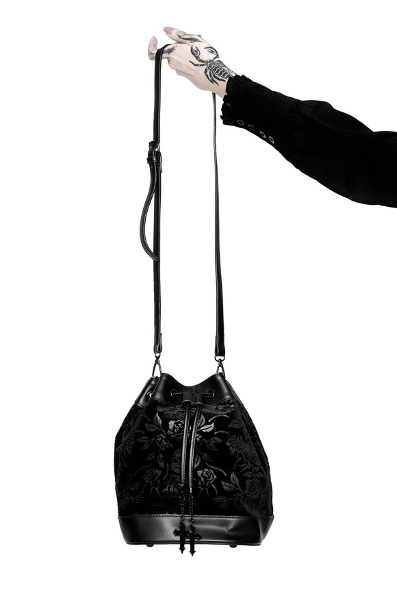 At Nightfall Black Velvet Handbag